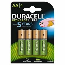 4 x Duracell AA 2500 mAh Rechargeable Batteries (Replaces 2400) NiMH, HR6 MN1500