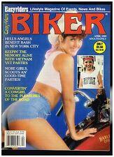 BIKER APRIL 1989 CONTENTS HELLS ANGELS BENEFIT CHOPPERS BOBBERS BIKER LIFESTYLE