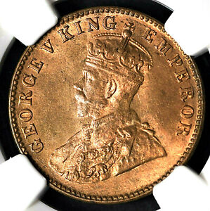 India British 1928(C) 1/4 Anna NGC MS65RB Certified