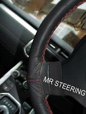 Pour jeep wrangler ii tj 97+ volant en cuir couverture rouge foncé double stitch