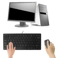 104 Keys Ultra Thin Quiet Mini Multimedia USB Wired Keyboard For Laptop Desktop