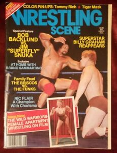 WRESTLING SCENE first issue August 1982 Jimmy superfly Snuka Bob BACKLUND cover