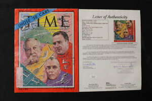 HENRY FORD II HARLOW CURTICE LESTER COLBERT SIGNED TIME 1958 JSA LOA JB1205