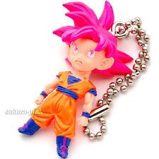 Son Goku Super Saiyan God DragonBall 12 mini Figure Key Chain Authentic BANDAI