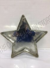 Pottery Barn Antique Mercury Glass Star Shaped Jewelry Catchall Tray Holder
