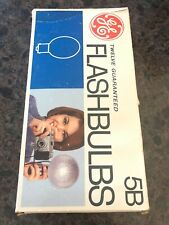 New listing (10) Vintage Ge 5B Blue Flashbulbs Box of 12 (two missing)