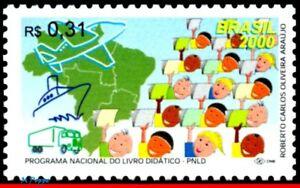 2733 BRAZIL 2000 SCHOOL BOOK PROGRAM, EDUCATION, MAP, PLANE, SHIP, MI# 2994, MNH