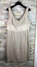 Lk Bennett Padies Size 16 Floral 100% Linen Dress