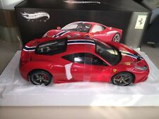 BLY31 HOT WHEELS ELITE 1 18 FERRARI 458 SPECIALE RED NEW RARE