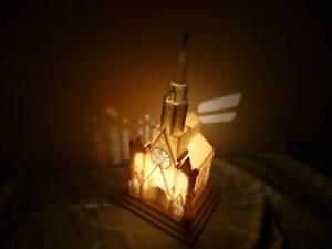 CHRISTMAS DECORATION VINTAGE 1960S CHURCH LAMP MUSIC BOX SILENT NIGHT H KONG