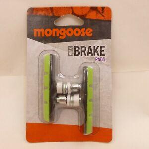 New GREEN Mongoose BMX Bicycle BRAKE PAD SET Linear Pull 2 PADS