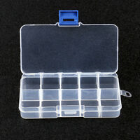 3X10 COMPARTMENT SMALL ORGANISER STORAGE PLASTIC BOX CRAFT BEAD FUSE BEADS UK