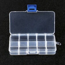 3X10 COMPARTMENT SMALL ORGANISER STORAGE PLASTIC BOX CRAFT BEAD FUSE BEADS UK