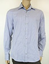 5bd48369e NEW Authentic Gucci Mens Fitted Plaid Dress Shirt, 44/17.5, 269056 4475