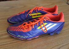 Men's Adidas F50 Indoor Soccer Football Purple/Neon/Orange Shoes - Size 7.5
