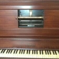 Vintage Antique Gulbransen Early 1900s Electric Player Piano With 236 Rolls