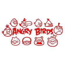 PEGATINA VINILO ANGRY BIRDS HABITACION PARED LAPTOP COCHE STICKER DECAL INFANTIL