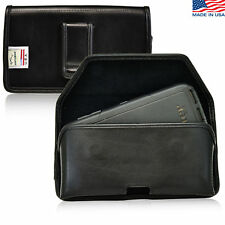 Turtleback HTC One M9 Leather Pouch Holster Black Belt Clip Fits Otterbox Case