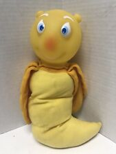 Vintage 1980's Remco Yellow Glow Worm With Blue Eyes Works