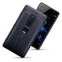 Ultra Slim Profile Carbon Fiber Leather  Black Case Sony Xperia XZ2 PREMIUM