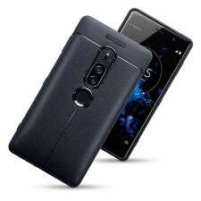 Low Profile  Carbon Fiber Leather  Black Case Sony Xperia XZ2 PREMIUM