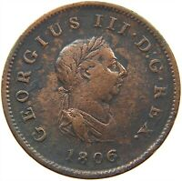 GREAT BRITAIN HALF PENNY 1806 #s13 279