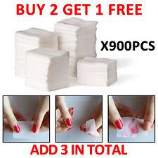 900pcs Lint Nail Art Wipes Paper Pad Tips Glue Polish Remover Clean Glitter