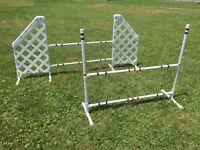 Dog Agility Equipment Wing Jump and Bar Jump set