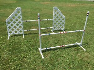 Dog Agility Equipment Wing Jump and Bar Jump set