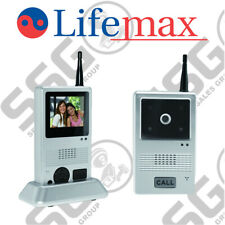 Lifemax Wireless Video Door Phone - Portable Intercom 2.4GHz Night Vision 450ft
