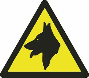2 Pack Security Guard Dogs Warning STICKER Signs for Cars Vans Doors Beware of