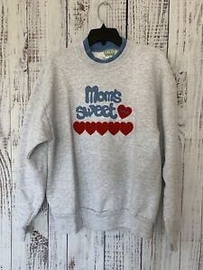 Vtg 90's Moms Sweetheart Sweatshirt Mothers Day Y2k Style Womens Sz L USA Tags