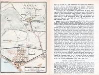 Bagnoli 1927 picc. pianta città orig. Agnano Terme *quartieri strade progettati