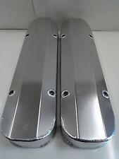 "Pontiac Fabricated Aluminum Tall Valve Covers 1/4"" Billet Rail 389 350 400 455"