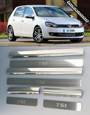 VW Golf Mk6 TSI (09 - 12) 4 Door Stainless Steel Sill Protectors / Kick Plates