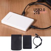 2TB USB 2.0 HDD Enclosure for 2.5 Inch External SATA Hard Disk Drive SSD Case