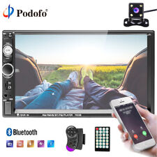 """7"""" inch 2 DIN Car MP5 Player Bluetooth Mirror Link to GPS Stereo Radio + Camera"""