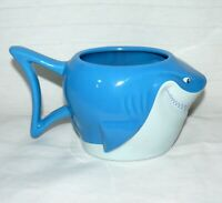 DISNEY STORE 16 OZ BRUCE SHARK FINDING NEMO CERAMIC BLUE MUG
