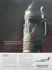 12/1990 PUB BOEING DE HAVILLAND CANADA DASH 8 DLT LUFTHANSA CHOPE BIERE BEER AD