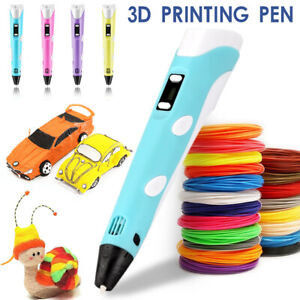 3D Printing Pen Crafting Drawing Art Printer Modeling 1.75mm PLA Filaments