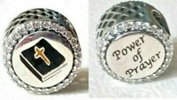 NEW Authentic PANDORA POWER OF PRAYER MOMENTS CHARM ENG792016CZ_48