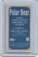 2020 Topps 206 Series 1 LARRY DOBY Polar Bear Back Variation SP INDIANS HOF