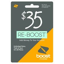 Boost Mobile - Re-Boost $35 Prepaid Phone Card Refilled directly to your mobile
