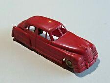 Lapin Products Vintage Plastic Toy Car Red Cadillac Sedan 4 Door 5 3/4