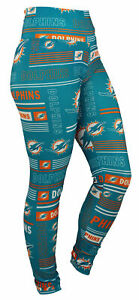 Zubaz NFL Miami Dolphins Women's Team Column Leggings