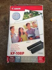 Canon KP-108IP tinta de color y 108 hoja de papel de 4 X 6 Set caja al por menor sellado