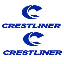 Set of 2 Vinyl Decals fits Crestliner Boat, truck, laptop. Mail with tracking #