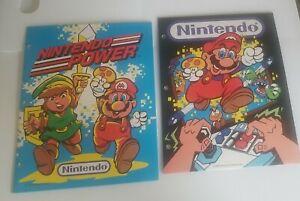 Vintage 1988 Nintendo NES Super Mario Brothers Folder ZELDA MARIO Never Used NEW