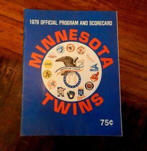 1979 MINNESOTA TWINS VS OAKLAND A'S BASEBALL PROGRAM RICKEY HENDERSON (ROOKIE) +