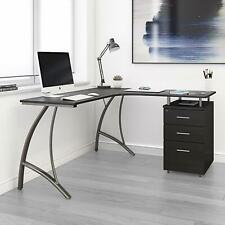 Techni Mobili Modern L Shaped Computer Desk With File Cabinet And Storage